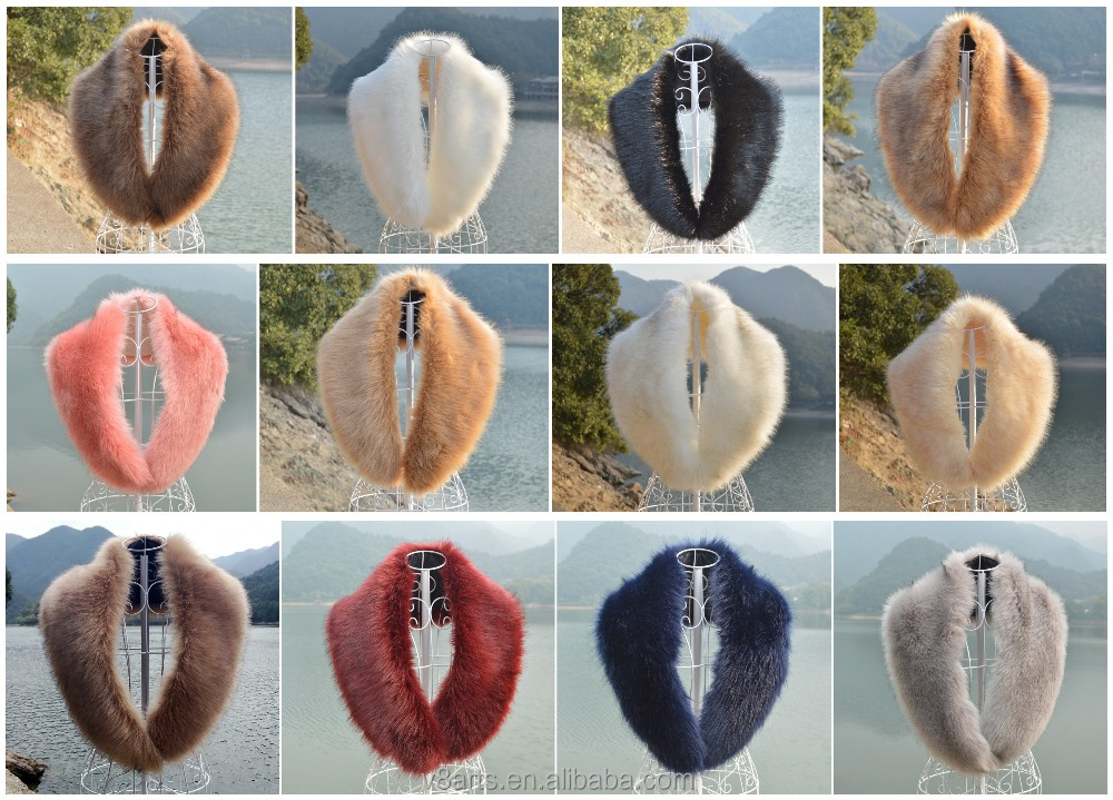 Women's Faux Fur Collar Scarf Fluffy Winter Shawl,faux fur stole,wholesale