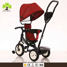 2017 Folding canopy children baby tricycle, mini kids tricycle wheels ,children lexus tricycle with soft cushion