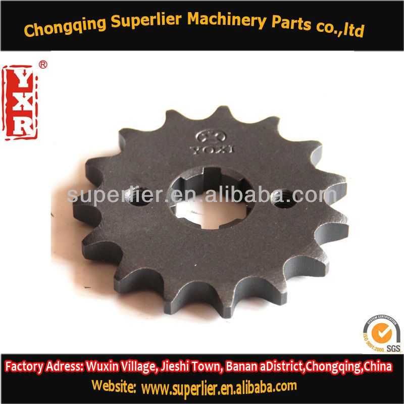 Professional produce motorcycle chain sprocket,CBX 250 TWISTER 13T sprocket,420 and 428 chinese motorcycle parts