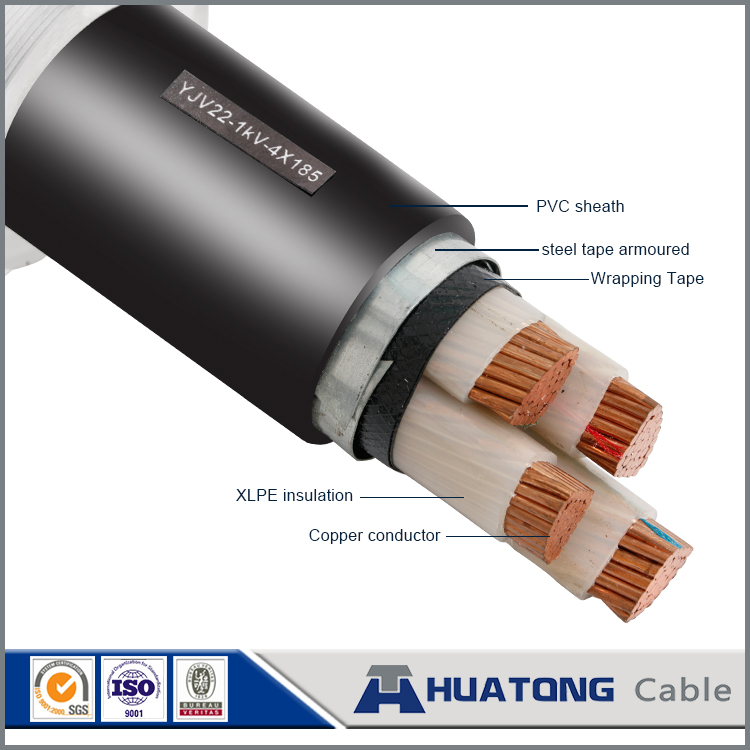 4 cores armor copper conductor low voltage XLPE Cable