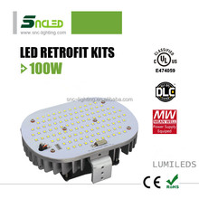 New type 100w UL DLC approved lumileds led retrofit kit with mean well driver for shoebox fixture