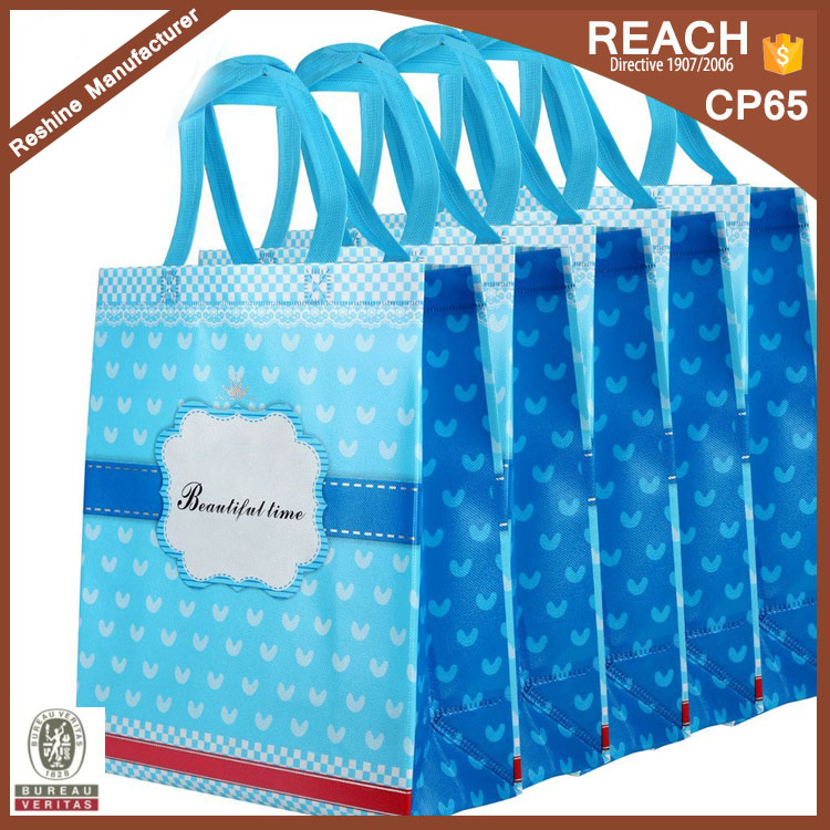 SB259 Hot Selling Cute Ecological Foldable Non Woven Shopping Bag Gift Bag