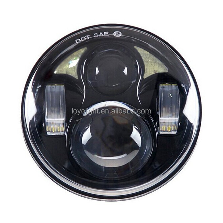 "Newest! 40W 5.6 inch 5.75"" 7 inch round led motorcycle headlights with angel eyes motorcycle led headlight for Harley Davidson"