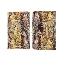 Camo Tree HD Print Custom Design PU Leather Tablet Case for Kindle Fire HD 10 (10.1'') with Auto Wake and Sleep Function