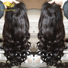 wholesale pretty 20in human hair wet and wavy full lace wigs