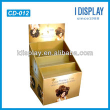 counter top cardboard display stand for soap custom pdq counter display