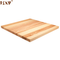 Solid square wooden restaurant table top