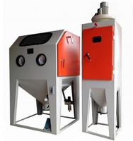 Affordable soda blasting cabinet with dust collector