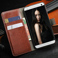 Fashion crazy horse leather wallet case for htc one m7 , for htc one m7 leather stand case for HTC M7 Top Phone cover