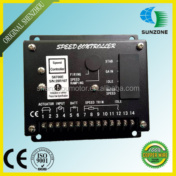 Electronic Motor Speed Governor Speed Control Board S6700E