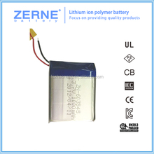 3.7v 1000mah High quality customized li-ion battery