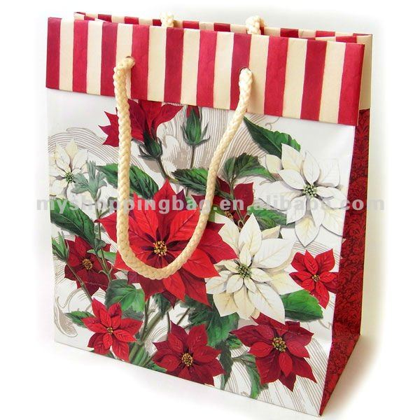Red Color Wedding Paper Sweet Bag For Gift