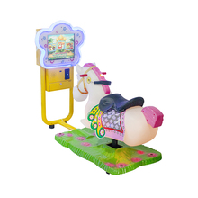Hot sale electronic horse racing game machine coin operated animal kiddie ride
