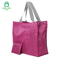 Custom hot sell waterproof polyester reusable shopping bag with zipper