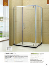 Walk In Deluxe Design rectangle single door parts custom fiberglass shower enclosure