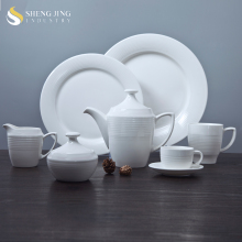 New Promotion Stock Pot Set Types Dinner Plates Ceramic Breakfast Dinnerware Set