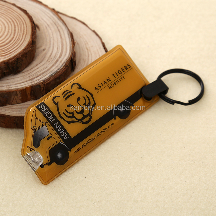 PVC key chain with LED light