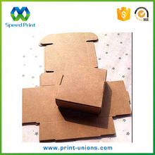 Folding recycled brown kraft paper food take out lunch boxes