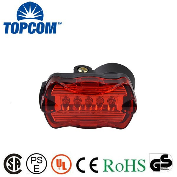 7 modes 5 led Rear safety tail light for bike bicycle accessory