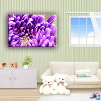 Modern chrysanthemum flower canvas painting wall pictures for living room