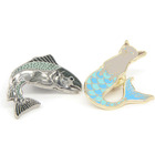custom metal fish hard enamel badge animal pins for sale