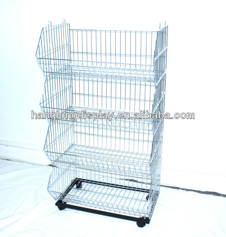 Metal Foldable Promotion Cage With Flag