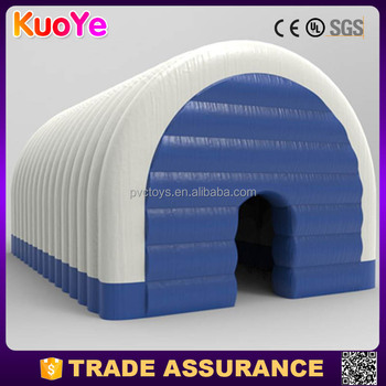 high quality 0.55mm PVC tarpaulin large cube and dome inflatable event tent for sale
