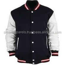inside pockets varsity jacket leather sleeves/last kings varsity jacket/varsity jackets women with pockets /