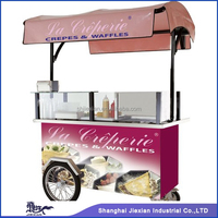 2014 JX-CR200 Mobile Ice cream kiosk/trolley Electric tricycle vending mobile food cart with wheels CE