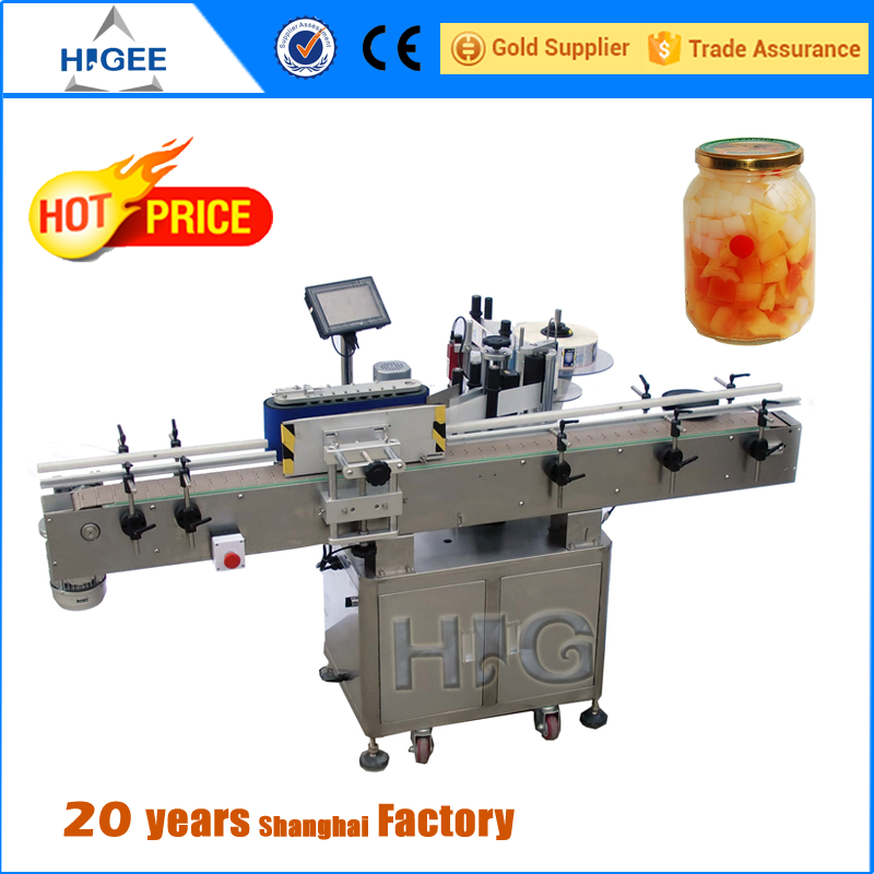Point composite double side automatic stick labeling machine