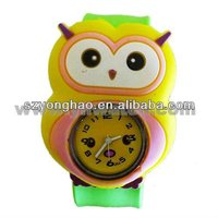 promotional cartoon silicone slap watch touch screen watches for kids