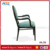 HB-729 green fabric upholstered seat aluminum arm banquet chair dome