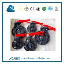 hot sale dn80 long hand lever operated upvc wafer butterfly valve