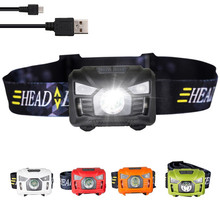 Hot seller High power USB rechargeable led headlamp for camping, running