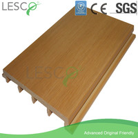 Wood plastic composite pvc material for exterior siding panel