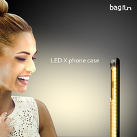 Oem selfie supplementing led light phone case with 8 pin ios charging battery for customerzied color & logo