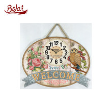 BSCI factory directly mdf and paper with string ajanta wall clock prices for classroom