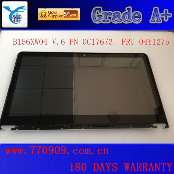 Best sale 15.6'' B156XW04 V.6 laptop screen assembly FRU 04Y1275 1366*768 EDP 40PINS for IDEAPAD 9580 9585 LCD module