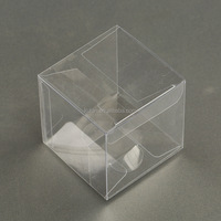 4x4x4cm Clear PVC Packaging boxes transparent plastic display package square Box show case