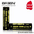 Basen BS186K 18650 2600mah 3.7v 40a Li-ion rechargeable Battery for Electric Bicycle