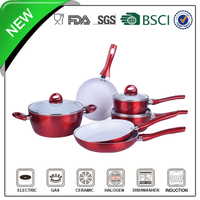 forged white ceramic marble aluminum enterprise quality cookware
