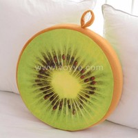Fruit 3D round creative watermelon plush toys can unpick and wash fruit cushion pillow