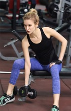 Hot Sale Fashionable Women Activewear Sexy <strong>Sports</strong> Black Tank top