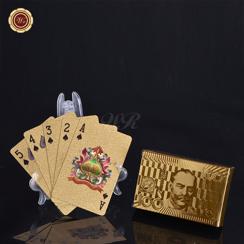 $100 Australia Dollar Bill Playing <strong>Cards</strong> 24k Gold Foil Plated Casino Poker Custom Printed <strong>Card</strong> for Birthday Party