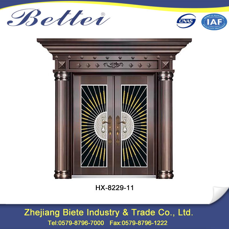 China wholesale villa door with flower designs