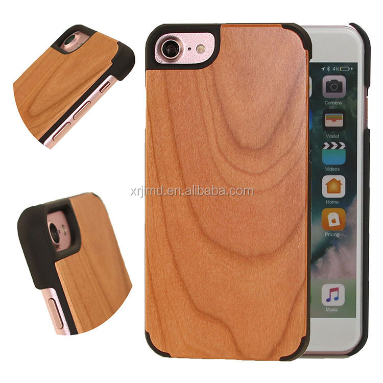 Handcraft natural Wood , bamboo wood phone case cover mobile accessories for iPhone 6//7/7p