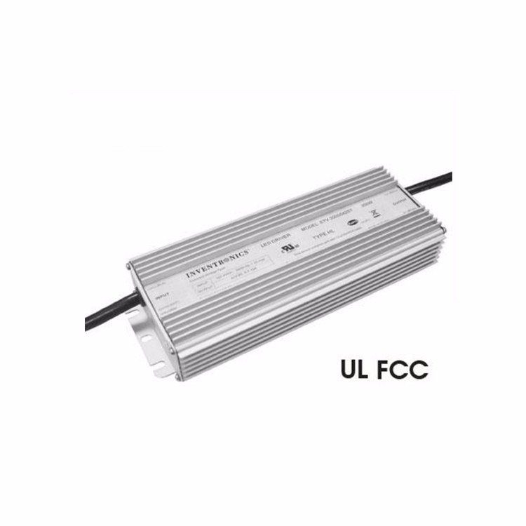 Inventronics 300Watt 312~528Vac Input 42Volt 42Vdc CV 0-7.15A Output IP67 LED Driver High Voltage Power Supply ETV-300S042ST