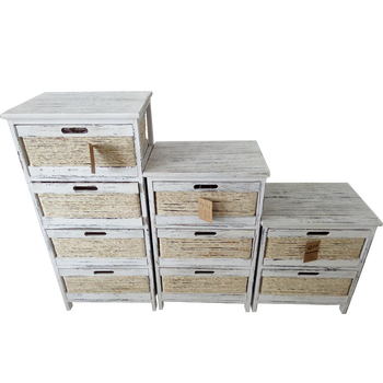 Home furniture wooden storage cabinet with willow drawer