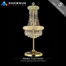 cheap electric candle holder 5 arms crystal candelabra table lamp