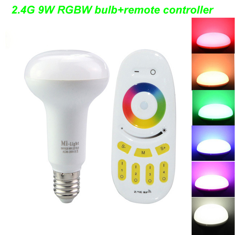 2.4G E27 9W LED Dimmable RGBW WIFI control Smart Bulb Lamp Light